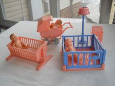 Dolls House Nursery Furniture.  I had this and foolishly sold it at a garage sale. :(