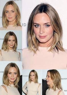 """Dark blonde: shoulder length, casual wave"" YES! Finally seeing some fab dark blonde straight-ish ombre - this I may be able to do :)"