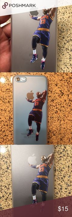 Lebron James iPhone case New iPhone Lebron James semi transparent plastic shell case with printed image not a sticker  Multiple sizes available Jordan Accessories Phone Cases