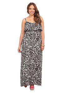 Black And White Leopard Crepe Maxi Dress | Dresses God dammit I am a sucker for animal print!