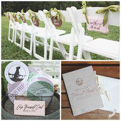 Wedding Ceremony | Wedding Programs | Outdoor Vineyard | Magnolia Bluebird | Real Wedding | Veritas Vineyard