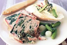 Pork & spinach terrine - verytasty and easy to make.  An impressive starter.
