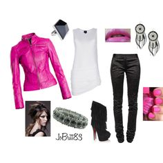 Pink Motorcycle Jacket.  Biker chicks know to get their batteries for their motorcycles from www.throttlexbatteries.com