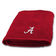 New! Alabama Crimson Tide Applique Bath Towel #AlabamaCrimsonTide