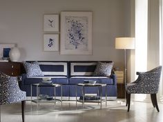 Blue tones, living room set by Century Furniture