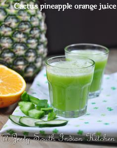 Have you ever tried cactus in your diet, it is healthy and delicious, try this. Cactus pineapple orange Juice/ Agua de  Nopal, Piña con  naranja : A diabetic Friendly Juice.