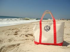 The always perfect monogrammed boat tote
