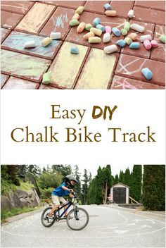DIY Chalk Bike Track is part of DIY Kids Crafts Outdoors - How to keep your kids entertained this summer with a DIY Chalk Bike Track Outside Activities For Kids, Gross Motor Activities, Summer Activities, Learning Activities, Educational Activities, Toddler Preschool, Toddler Activities, Diy For Kids, Crafts For Kids