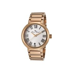 Women's Lucien Piccard 11313-RG-22 - Rose Gold Steel/Silver Wrist... ($119) ❤ liked on Polyvore