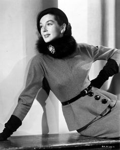 Rosalind Russell,1953. Made the International Best-Dressed List's Hall of Fame in 1964.