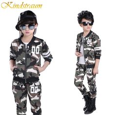 Cheap children clothing, Buy Quality coat pant directly from China sport suit boy Suppliers: Kindstraum 2017 Children Clothing Sets Camouflage Kids Sports Suits Boys Girls Spring Tracksuits Casual Coat Pant, Boys Formal Suits, Kids Suits, Girls Formal Dresses, Boys Clothing Stores, Children Clothing, Clothing Sets, Teenage Girl Outfits, Boy Outfits, Girl Christening
