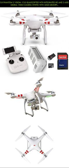 DJI Phantom 2 Vision+ V3.0 Quadcopter with Integrated HD and 3-Axis Gimbal Video Camera (White) with 32GB Memory Card Upgrade and USB Memory Card Reader #upgrades #parts #phantom #camera #dji #racing #drone #kit #3 #shopping #professional #gadgets #technology #plans #tech #products #fpv