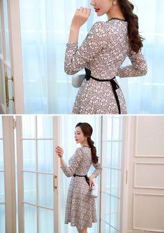 Korean Women`s Fashion Shopping Mall, Styleonme. Pretty Asian, Korean Women, Cold Day, Winter Dresses, Korean Beauty, Asian Fashion, Asian Woman, Flare Dress, Floral Lace