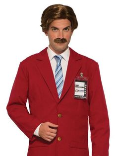 Check out Anchorman Moustache and Wig - Costume Accessories for 2018 | Wholesale Halloween Costumes from Wholesale Halloween Costumes