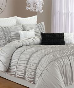 This Silver Silver Romantica Duvet Set by Chic Home Design is perfect! #zulilyfinds