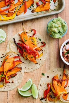 These fajitas have roasted sweet potato slices dusted in cumin and smoked paprika. Roasted Sweet Potato Fajitas Stuff them into warm tortillas and drizzle with a tangy yogurt and lime crema. Easy Vegetarian Dinner, Vegetarian Recipes, Vegetarian Fajitas, Vegan Meals, Vegetable Recipes, Tortillas, Roasted Sweet Potato Slices, Sweet Potato Seasoning, Fajita Recipe