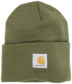 Carhartt Men's Watch Hat, Army Green, One Size Carhartt