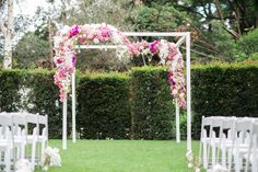 #elegant #classic #wedding #purple #luxurywedding #phaleanopsis #Orchids #tulips #gardenceremony #flowers #white #pink #purple #floralgazebo #realwedding #inspo captured perfectly by the #Tyme Photography. Wedding Coordination: Absolute Perfection Venue: Four Seasons Hotel The Westcliff Johannesburg Photography: Tyme Photography #weddinginspo #AbsolutePerfectioSA #SouthAfricanweddingplanner #Luxurywedding