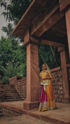 Rajasthani Bride, Rajasthani Dress, Bride Photography, Indian Wedding Photography, Wedding Dresses For Girls, Girls Dresses, Wedding Times, Function Dresses, Bandhani Dress