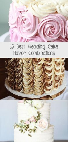 These are the 15 BEST Wedding Cake and Icing Flavor Combinations! weddingfor1000.com #weddingcakesflavorsAndFillings #Buttercreamweddingcakesflavors #Commonweddingcakesflavors #Uniqueweddingcakesflavors #weddingcakesflavorsList Whipped Cream Icing, Cream Cheese Buttercream, Cream Frosting, Chocolate Ganache Cake, Velvet Cream, Icing Flowers, Couture Cakes, Decadent Cakes, Wedding Cake Flavors