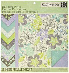 KCompany Poppy Seed DoubleSided Designer Paper Pad 12Inch x 12Inch 36 Sheets -- Click on the image for additional details.