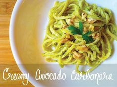 Creamy Avocado Carbonara | 30 Delicious Vegan Meals You Can Make In Under 30 Minutes