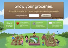 Enter in your zip code and it tells you what to plant and when! Also, easy instructions of how to plant those veggies & fruits.