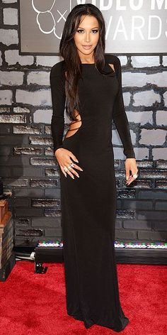 It's a sad state of fashion when this is one of the better looks of the night. Naya Rivera @ VMAs 2013