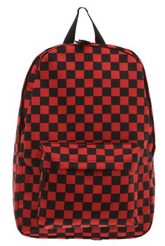 7cd449913522 Black and Red Checker Backpack