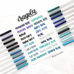 "1,234 Likes, 33 Comments - @dearfantasies on Instagram: ""—; [2/5] crayola supertips swatches ✨ @crayola . { #study #studying #studygram #studyblr #studyspo…"""
