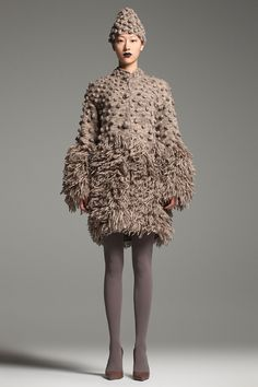 Artistic Fashion - textured coat & cap; sculptural fashion // Tribune Standard Fall 2012