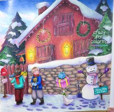 The boys' wintery adventure from Eriy's Romantic Country. I'm happy with the result. #romanticcountry #eriy #adultcoloring #coloringbook