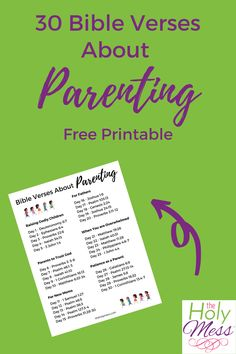 List of 30 Bible Verses for parenting #bibleversesparenting #bibleversesparent #scripturewritingparenting Encouraging Bible Verses, Printable Bible Verses, Parenting Issues, Raising Godly Children, Memory Verse, Fear Of The Lord, Free Bible, Christian Parenting, Christian Quotes