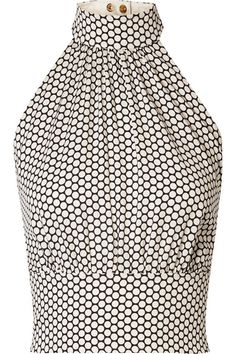 Diane von Furstenberg - Polka-dot Stretch-silk Crepe Halterneck Top - Off-white Fashion Moda, Fashion 2017, Diy Fashion, Vintage Fashion, Trendy Fashion, Crepe Dress, Silk Crepe, Tango Dress, Stella Mccartney Adidas