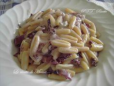 malloreddos radicchio e gorgonzola Gnocchi Rezept Vegan Gorgonzola Pasta, Pasta Company, Italian Pasta, Comfort Food, I Love Food, Food Dishes, I Foods, Italian Recipes, Vegan