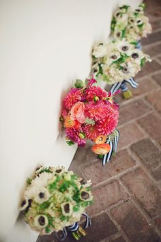 Wedding Bouquets | Coral & Navy Vintage Inspired Nautical Wedding At The Ribault Club Jacksonville Florida | Photograph by Britney Kay Photography   http://storyboardwedding.com/vintage-nautical-wedding-ribault-club-jacksonville-florida