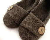 Barley Womens Felted Wool Slippers by PPod Design