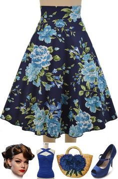 """BRAND NEW at Le Bomb Shop! Floral Prints in our most loved """"Sightseeing Sweetie High-Waisted Full Midi Skirt!"""" Only $34 with FREE U.S. s/h! Buy the floral prints as well as polka dots here at Le Bomb Shop: http://lebombshop.net/search?type=product&q=sightseeing+sweetie+high-waisted+full+midi+skirt&search-button.x=0&search-button.y=0"""