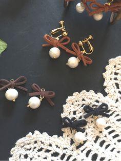 Diy Earrings, Leather Earrings, Pearl Earrings, Diy And Crafts, Jewelery, Jewelry Making, Beads, How To Make, Handmade