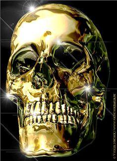 Liquid+Gold+Skull+by+blindguard.deviantart.com+on+@deviantART