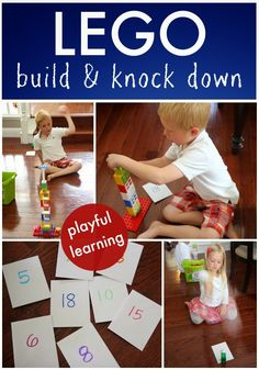 Toddler Approved!: LEGO Build and Knock Down
