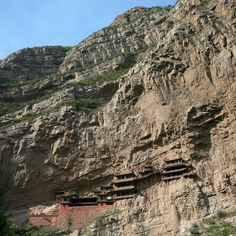 Xuankong Temple (Temple Hanging in the Cliff) in Mount Heng, Shanxi, China