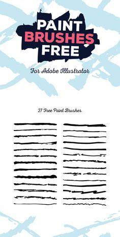 free-illustrator-paint-brushes