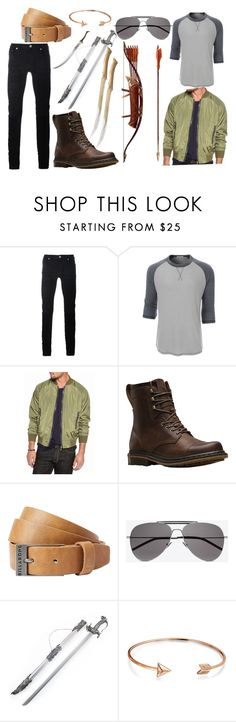 """#21"" by ronnie-555 on Polyvore featuring Diesel Black Gold, LE3NO, Ocean Current, Dr. Martens, Billabong, Yves Saint Laurent, Bow & Arrow, Bling Jewelry, men's fashion and menswear"