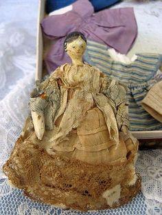 Miniature Grodnertal Doll.