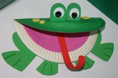 frog crafts for kids - Site about Children Kids Crafts, Daycare Crafts, Classroom Crafts, Toddler Crafts, Projects For Kids, Paper Plate Art, Paper Plate Crafts, Paper Plates, Paper Plate Animals