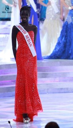 """be-blackstar: """"howiviewafrica: """" Miss South Sudan. """" she's like make-you-wanna-cry beautiful """" Miss South Sudan out here breaking hearts"""