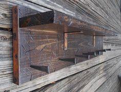 Rustic Railroad-Themed Wall Rack / Organizer / Shelf - Tie Rack - Jewelry Rack - Belt Rack - Medal Rack - Hat Rack - Key Rack