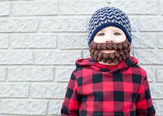 Crocheted beard.