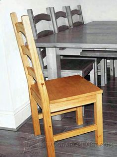 Pine Dining Chair Plans - Furniture Plans and Projects - Woodwork, Woodworking, Woodworking Plans, Woodworking Projects